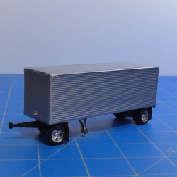 28ft van trailer with dolly